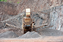 Stone crusher in a quarry. mining industry Stock Photo