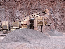 Stone crusher in a quarry. mining industry Royalty Free Stock Image