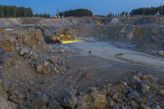 Stone crusher in a quarry. mining industry, night view. Idustrial background ,stone crusher in a quarry. mining industry, night view Stock Image