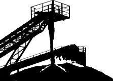 Stone crusher in quarry. Vector drawn illustration. Stone crusher in quarry. Vector illustration Royalty Free Stock Images