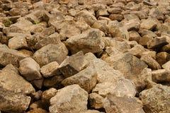 Stone crusher at the Rhine Stock Image