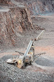 Stone crusher in surface mine Royalty Free Stock Image