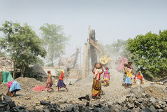Stone crushers in India Stock Photos