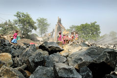 Stone crushers in India Stock Photography