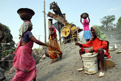 Stone crushers in India Royalty Free Stock Photos