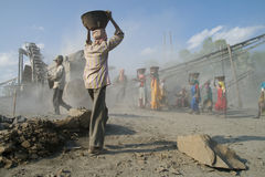Stone crushers in india Royalty Free Stock Image