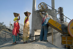 Stone crushers in india Royalty Free Stock Photo