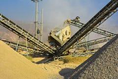 Stone Crushing Machine & Gravel. Somewhere near Quaidabad, Khushab, Pakistan Stock Photos
