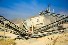 Stone Crushing Machine. Somewhere near Quaidabad, Khushab, Pakistan Royalty Free Stock Photography