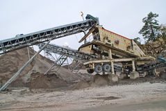 Stone crushing plant at brekke quarries plant 3 Stock Photo