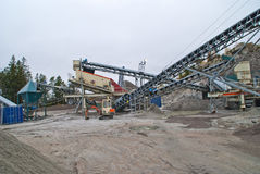 Stone crushing plant at brekke quarries plant 4 Royalty Free Stock Photography