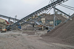 Stone crushing plant at brekke quarries plant 5 Stock Image