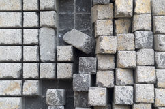Stone cubes. Belonging to a sculpture Royalty Free Stock Photo