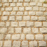 Stone cubes, path, background Royalty Free Stock Images