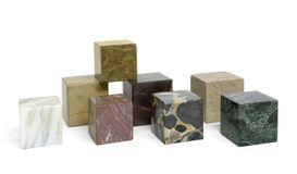 Stone cubes Royalty Free Stock Images