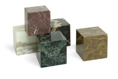 Stone cubes Royalty Free Stock Photos