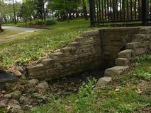 Stone culvert. A stone culvert over a very small creek Royalty Free Stock Photos
