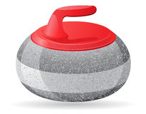 Stone for curling sport game vector illustration Royalty Free Stock Photo