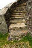 Stone curving staircase Stock Images