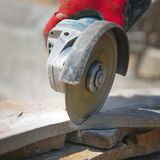 Stone cutting diamond wheel Stock Photography