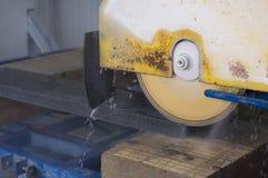 Stone cutting machine Royalty Free Stock Images