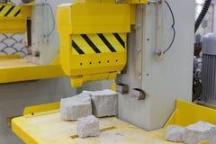 Stone cutting machine stock photo