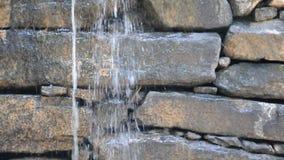 Stone Dam Closeup stock video