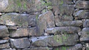 Stone Dam Closeup stock footage