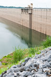 Stone and dam water level Royalty Free Stock Image