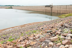 Stone and dam water level Stock Image
