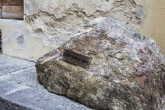 Stone of Dante Alighieri in Florence near duomo Stock Image