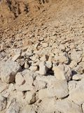 Stone debris at the Masada National Park in Israel Stock Images