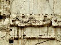 Stone decay abstract. Interesting abstract background. Wall of a demolished building. Rome Royalty Free Stock Images