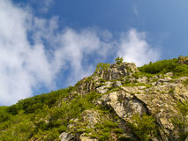 Stone declivity of mountain Stock Image