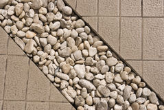 Stone decorate in walk way Royalty Free Stock Photography