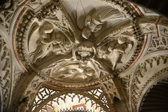 Stone decoration of Baptistery ceiling in Sibenik Cathedral Stock Photos