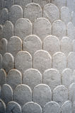 Stone decoration on the wall. Of church stock photography