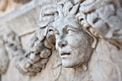Stone decorations in Aphrodisias Stock Image
