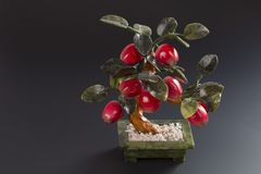 Artificial stone tree feng shui Stock Image