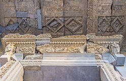 The stone decors of Garni Temple Royalty Free Stock Images