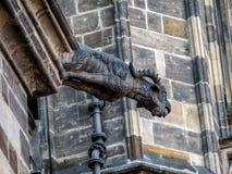 Stone demon gargoyle Royalty Free Stock Image