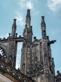Stone demon gargoyles Stock Photography