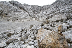 Stone desert in the austrian alps, Europe Stock Photos