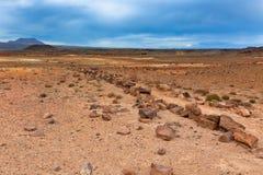 Stone Desert at Geothermal Area Hverir, Iceland Royalty Free Stock Image