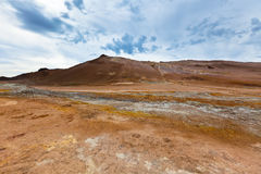Stone Desert at Geothermal Area Hverir, Iceland Royalty Free Stock Photos