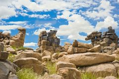 Stone Desert Giants Playground in Namibia Royalty Free Stock Image