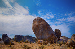 Stone in desert Stock Photography