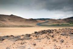 Stone desert, Hverir - Namafjall - Iceland Royalty Free Stock Photography