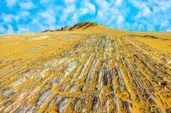 Stone desert im Yemen near Marib Stock Photos