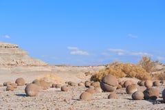 Stone desert in Ischigualasto, Argentina. Stock Photo